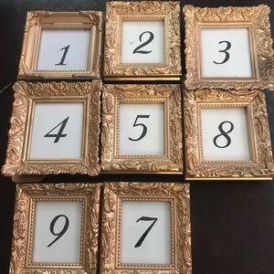 Set of Assorted Gold Frames Bundle